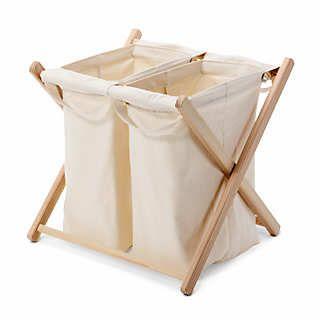 Wäschebehälter zweifach   Wäsche Sortieren und Trocknen