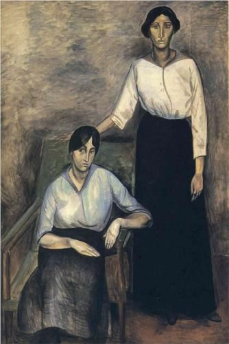 The Two Sisters - Andre Derain.  Art Experience NYC  www.artexperiencenyc.com