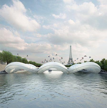 A Parigi sarà installato un nuovo ponte pedonale attraversabile 'a balzi'