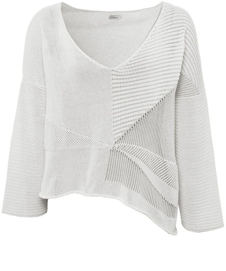 Crea Concept Asymmetric Cropped Sweater | Jules B