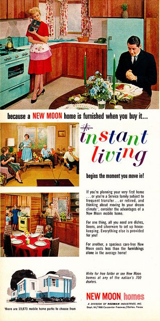1965 New Moon mobile home I grew up in one of these but our kitchen had Pink appliances and sink