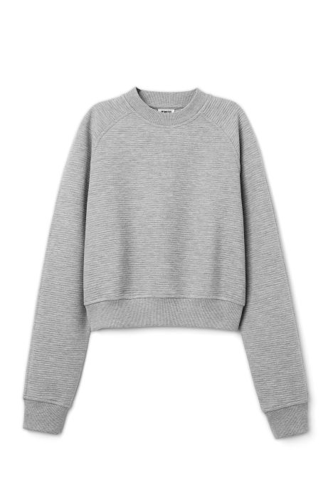 Weekday Wave Sweatshirt in Grey Light