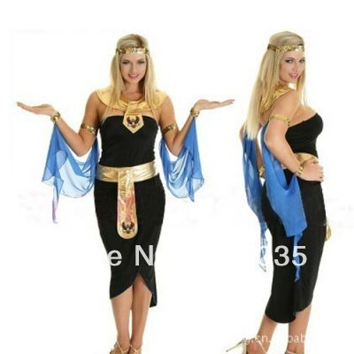 FREE SHIPPING zy283 Ladies Cleopatra Egyptian Goddess Roman Fancy Dress Halloween Costume Outfit US $25.55