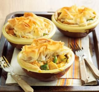Curried chicken pies | Australian Healthy Food Guide