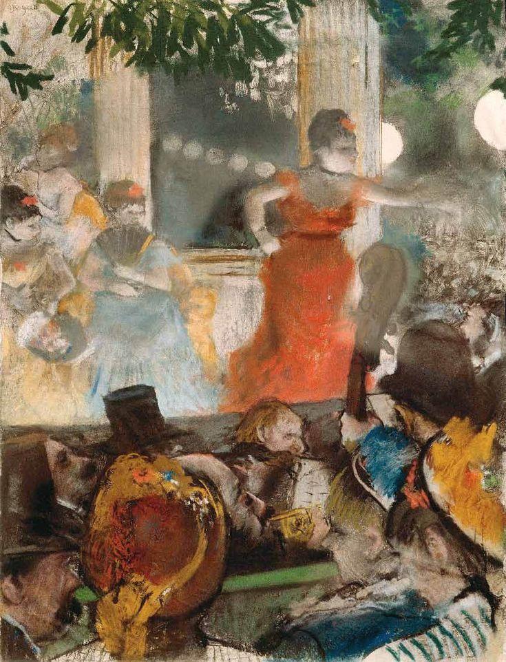 Au Café-concert des ambassadeurs, par Édgar Degas