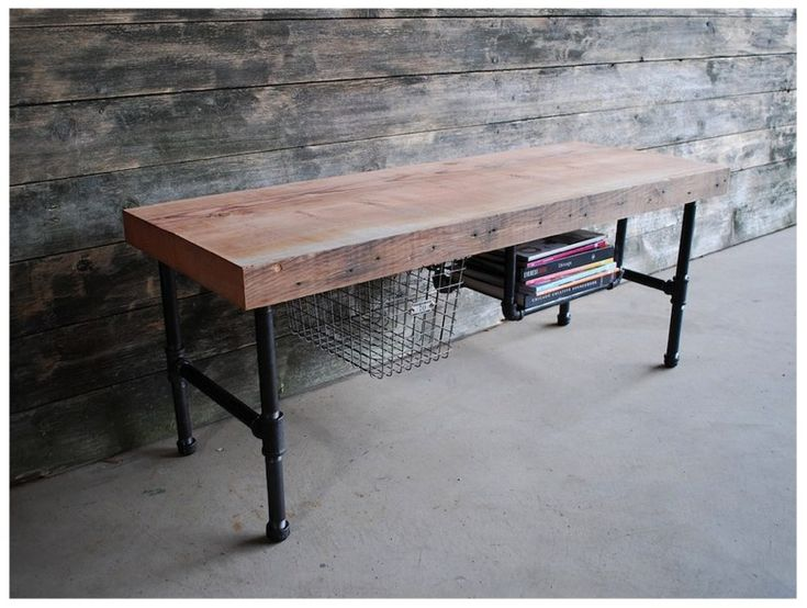 Urban Wood Goods   Industry Coffee Table/TV Media Stand   Made Of  Reclaimed, Old Growth Wood From Dismantled Buildings In Chicago And Barns  In The ...