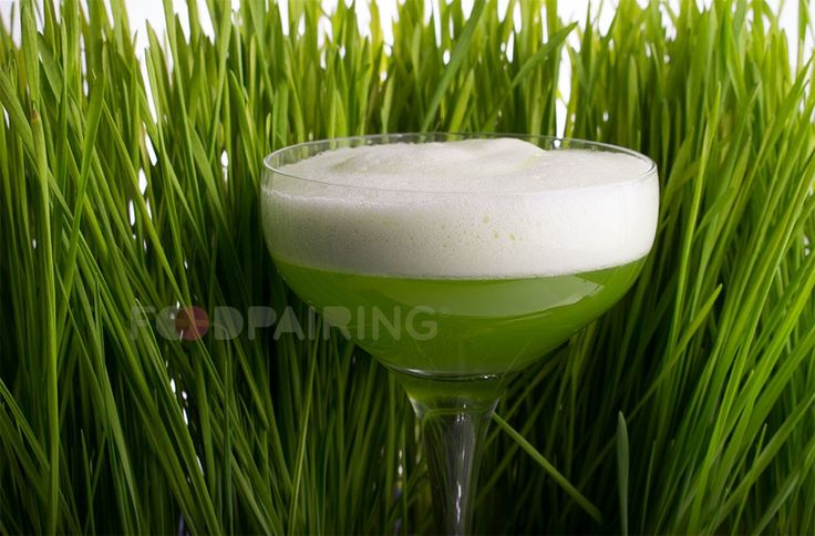 """Inspired by the classic White Lady cocktail, we've renamed our refreshing wheatgrass cocktail """"The Green Dutch Lady."""""""