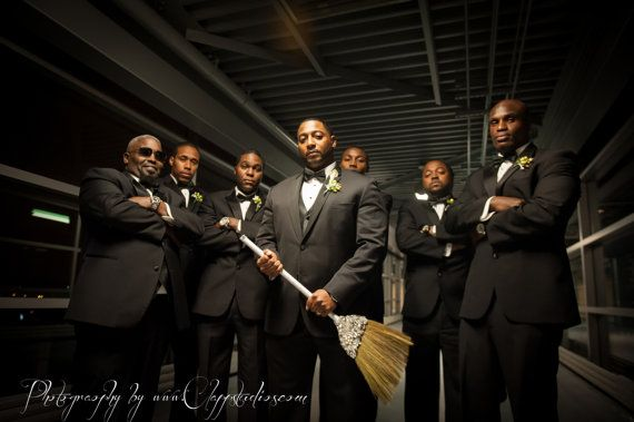 Jeweled Brooch Wedding Broom 'The Sarah O' by BroomsBasketsNBrides