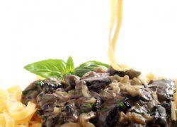 Pasta con Portobello Picante