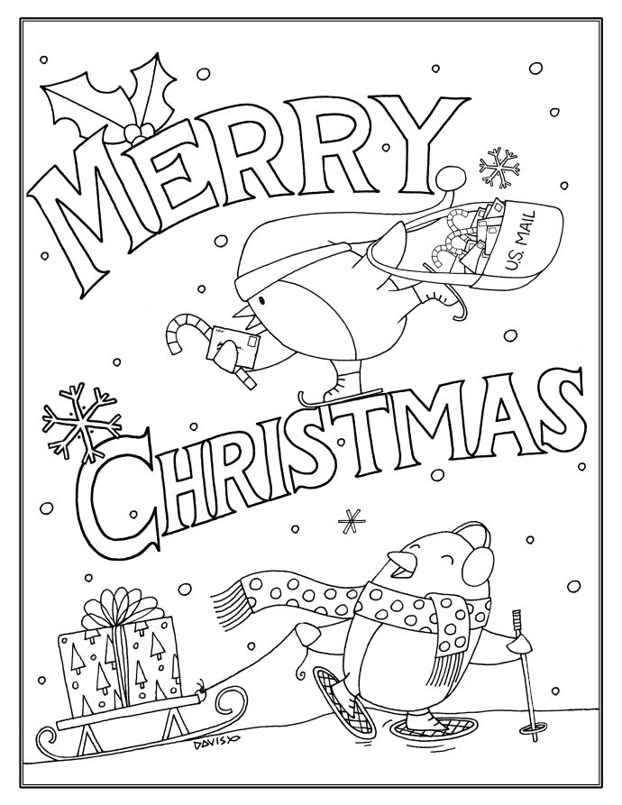 94 best Coloring Pages images on Pinterest Print coloring pages - new christmas coloring pages penguins