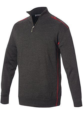 Sunderland Mens Pampero Lined Zip Neck Golf Sweater