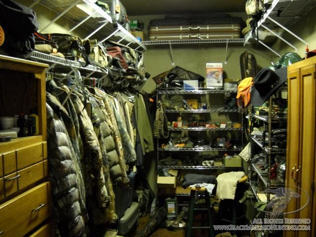 Storing hunting clothes