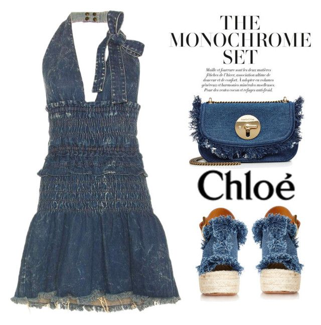 """""""The Monochrome Set"""" by conch-lady ❤ liked on Polyvore featuring See by Chloé, Chloé, monochrome, chloe and themonochromeset"""