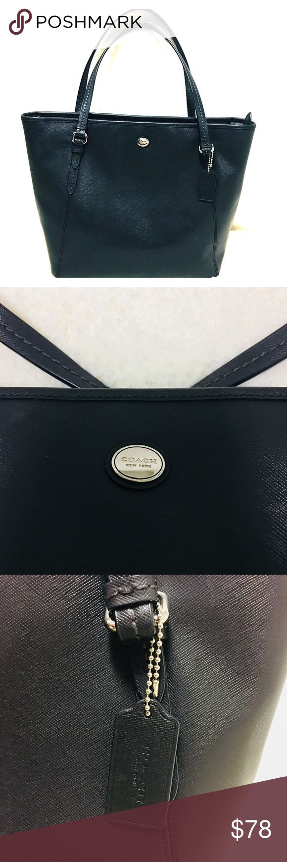 💥Lowered Price!💥Black Coach Tote Bag In Good Condition. 100% Authentic! Lovingly Used! Black Coach Handbag. An easy to go bag for school or work. There are minor signs of usage but still has a long life. Please see pictures. Bundle more in my closet to get instant discount plus a private discount. Also willing to negotiate with a reasonable offer. Coach Bags Shoulder Bags