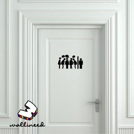 Toilet Gossip Door Decal Home Decor wallineed.com