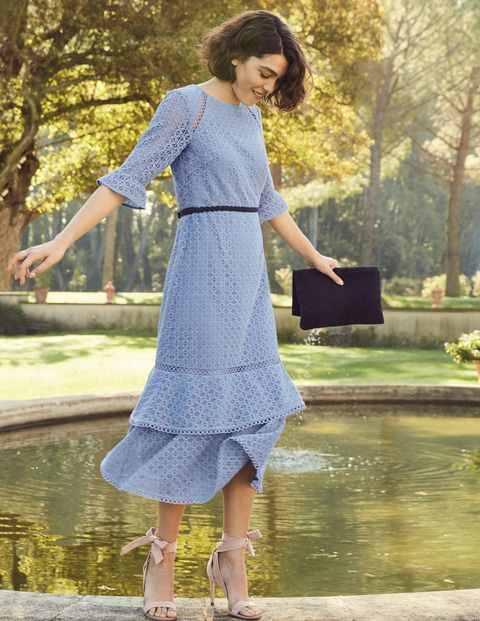 2ee480530457 We love lace, so we dedicated this midi dress to it. The sheer,  three-quarter-length sleeves have a feminine feel that's boosted by the  delicate cutwork ...