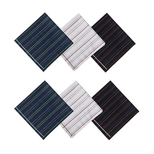 Selected Hanky 100% Cotton Men's Handkerchief 6 Piece Gift Set:   Product:/b Selected Hanky 100% Cotton Men's Handkerchief 6 Piece Gift Setbrbr Material:/b 100% Cotton.brbrContent:/b 6 Pieces in one pack, fashion patterned, 3 Colors, 2 of each.brbr Care Instructions:/b Machine washable. Hand wash in warm water is highly recommended. Lay flat to dry. Cool iron if needed.brbrThese beautifully crafted hankerchiefs are stylish enough for daily use or special occassions (eg., as pocket squa...