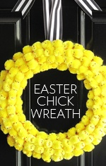 easter chick wreath / via design editor