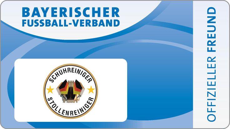 Schuhreiniger & Stollenreiniger, Stiefelreiniger mit farbigen Bürsten-Schuhabstreifer,Schuhabtreter,Boot-Cleaner,Bayerischer Fussballverband