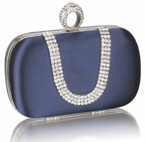 Navy Blue Crystal Horse Shoe Bridal Evening Clutch Bag (18cm x 10cm) with PreciousBags Dust Bag Preciousbags,http://www.amazon.com/dp/B00G28CJ8A/ref=cm_sw_r_pi_dp_AwzCtb02HMRDZAC2