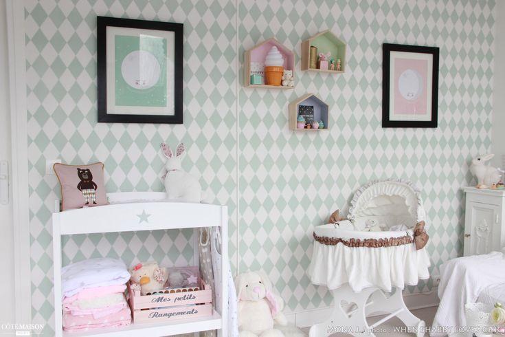 cette chambre de petite fille est d cor e dans un style scandinave chambre b b pinterest. Black Bedroom Furniture Sets. Home Design Ideas