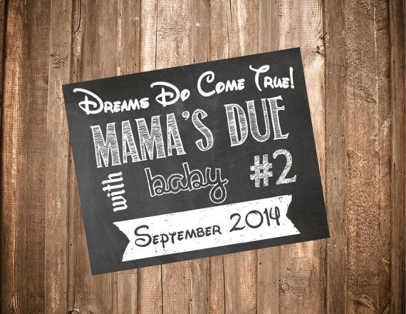 Printable Chalkboard Pregnancy Sign-Printable by StephAnnDesigns