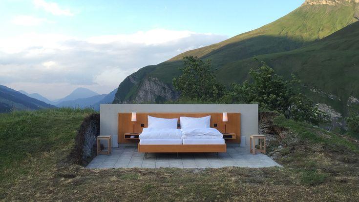 The Alpine Room, camera in bella vista sulle Alpi svizzere