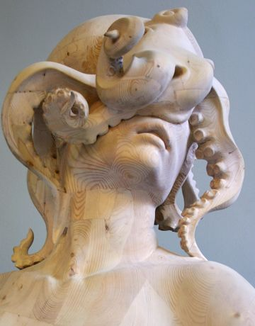 Morgan Herrin. Love that it speaks to Classical Greek marble statues but us unexpectedly made of wood.
