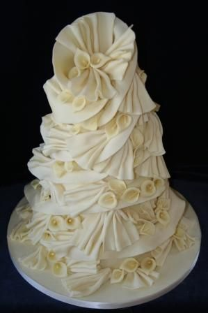 Calla Lily Helterskelter Wedding Cake
