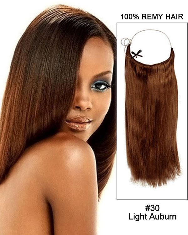 22 30 Light Auburn Straight Flip In Human Hair Extension 100 Remy
