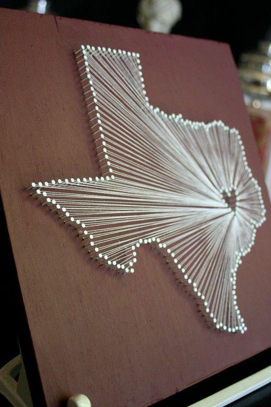 Texas!!: Wall Art, Heart, Diy Crafts, Nail String, Texas, String Art, Cool Ideas, U.S. States, Nails String