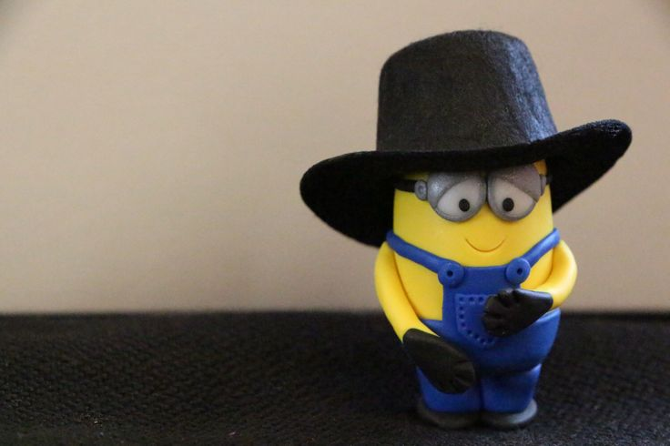 Handmade Minion with an Amish Hat by myrescreation on Etsy https://www.etsy.com/listing/165669977/handmade-minion-with-an-amish-hat
