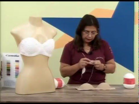 Topper em croche com Camila fashion por Cristina Amaduro - YouTube