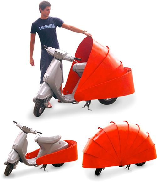 It's like turning your scooter into an armadillo! I love this!  Protect 486 Scooter Armor (Images courtesy Marc Graells Ballve)