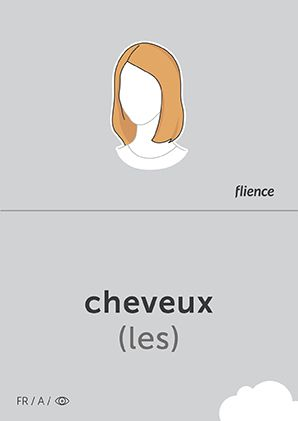 Cheveux #CardFly #flience #human #french #education #flashcard #language