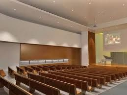 modern clean worship space with pews interior color foyerfoyer