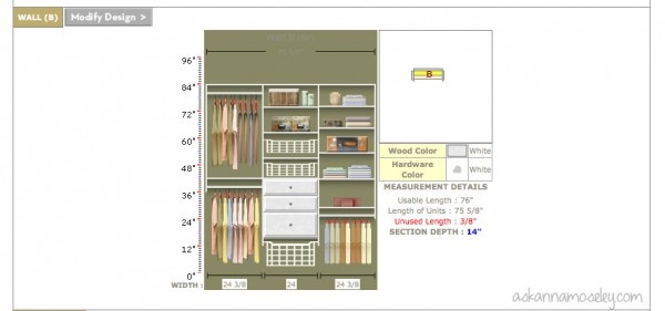 EasyClosets custom closet designs make getting organized easy and affordable -- Ask Anna