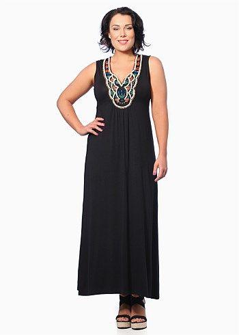#Virtu Santino Maxi Dress #plussize #curvy