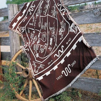 This Oversize Throw Features A Map Of The King Ranch Santa Gertrudis  Division And Was Drawn