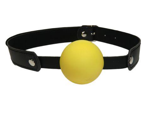 Ball Gag, Ballknebel,gelb veggie