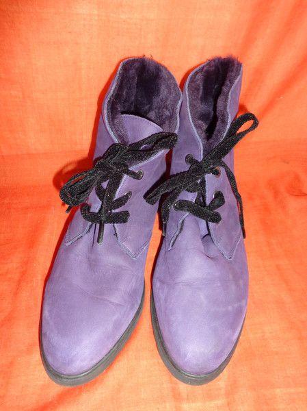 Vintage Stiefel - Schuhe*Stiefel*Vintage*Leder*Lila*41* - ein Designerstück von SweetSweetVintage bei DaWanda