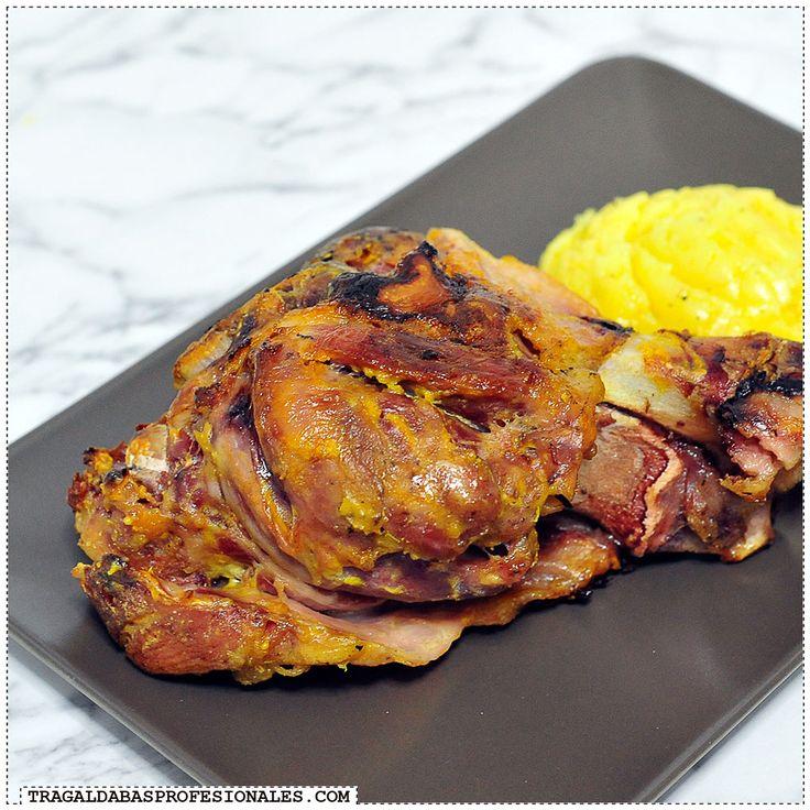 Cocina sin prisas - Olla lenta - Slow cooker - Crockpot - Codillo asado con mostaza