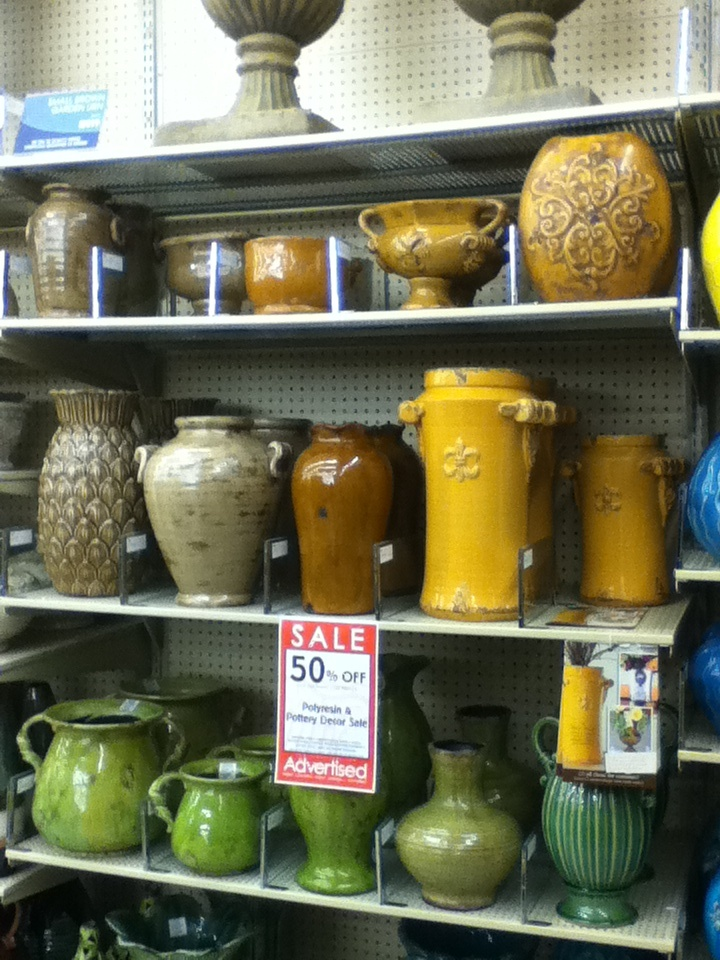 Hobby lobby pottery for above kitchen cabinets  Kitchen