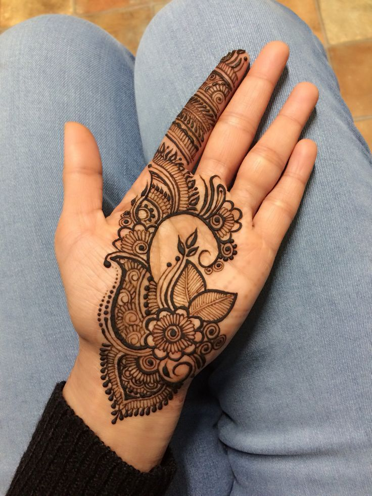 best and easy mehndi designs for front hand