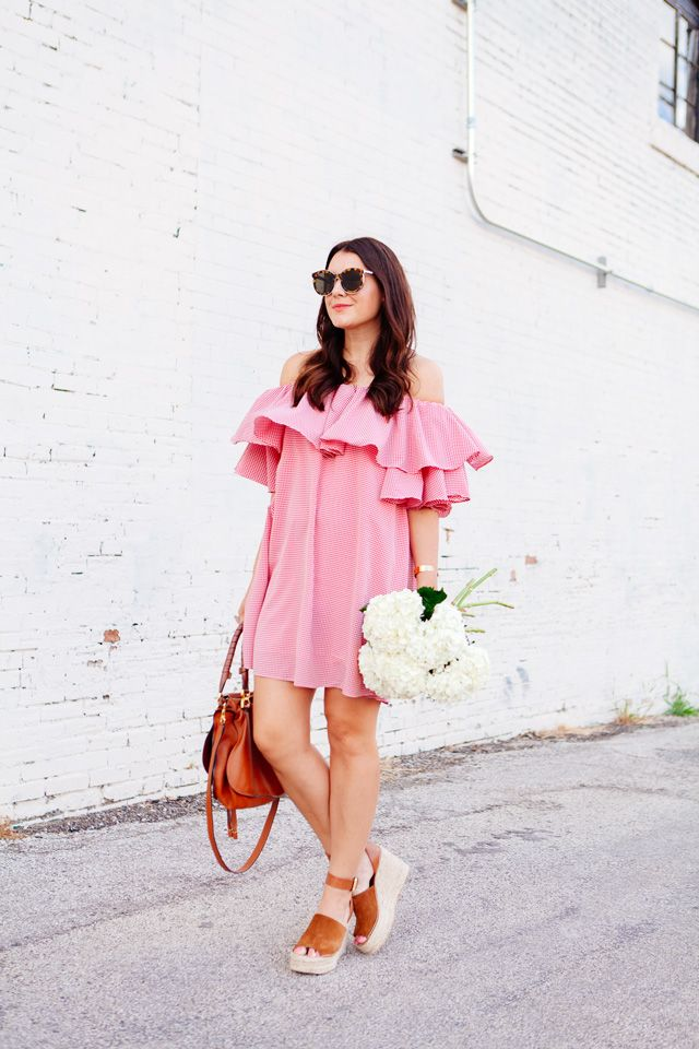 A pretty pink weekend dress that can also make casual Friday a lot more fun.