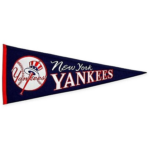 This Cooperstown Pennant celebrates your favorite MLB team. Classically styled, it features embroidery and appliqued team logo details. Makes a great gift and is perfect for a kid's room, bar room, den or basement.