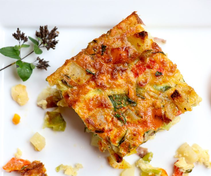 Roasted Red Potato & Provolone Oven-Baked Frittata
