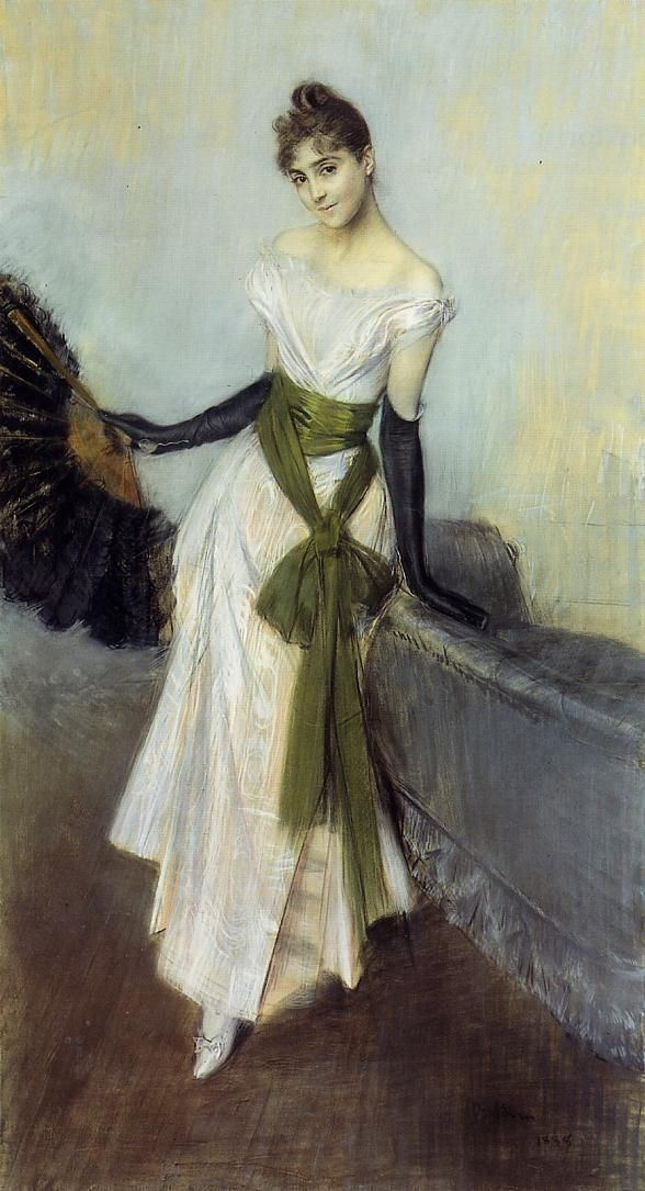 Giovanni Boldini (1842-1931) Portrait of Signorina Concha de Ossa Pastel on prepared canvas 1888