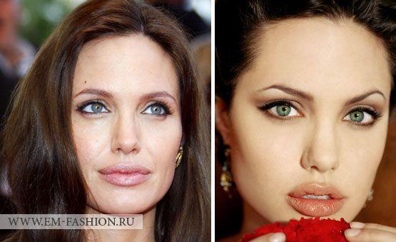 цвет глаз Анджелины Джоли