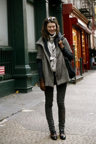 gloves: Fashion, Inspiration, Street Style, Fall Outfit, Photo, Fall Winter, Knot, Coats
